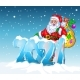 Happy New 2021 Year and Merry Christmas with Santa - GraphicRiver Item for Sale