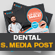 Dental Social Media Post Template - GraphicRiver Item for Sale