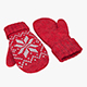 Knitted wool mittens - 3DOcean Item for Sale