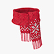 Knitted wool scarf - 3DOcean Item for Sale