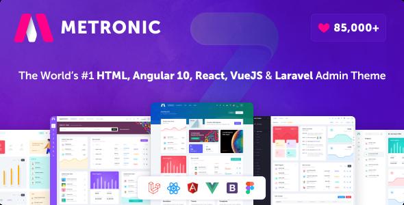Metronic – Bootstrap 4 HTML, React, Angular 11, VueJS & Laravel Admin Dashboard Theme