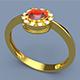 Gold Ring Gemstone 3D print model - 3DOcean Item for Sale