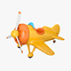 Cartoon plane - 3DOcean Item for Sale