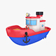Cartoon boat - 3DOcean Item for Sale