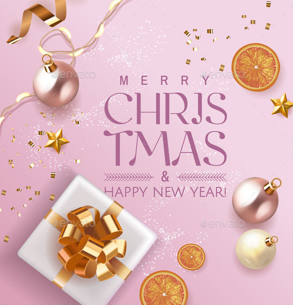 Merry Christmas and Happy New Year Xmas Design