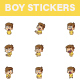 Boy Sticker Set - GraphicRiver Item for Sale