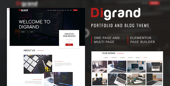 Digrand - Portfolio And Blog Theme