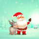 Santa Claus Embraced Reindeer - GraphicRiver Item for Sale