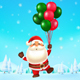 Santa Claus Flying with Balloons - GraphicRiver Item for Sale
