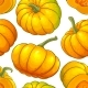 Pumpkin Fruit Vector Pattern on White Background - GraphicRiver Item for Sale