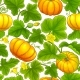 Pumpkin Vector Pattern - GraphicRiver Item for Sale