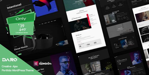 Daro - Ajax Portfolio WordPress Theme
