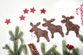 Top view of gingerbread reindeer on white background - PhotoDune Item for Sale