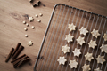 Top view of Christmas cookies on the cooling rack - PhotoDune Item for Sale