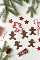 Gingerbread men on white background - PhotoDune Item for Sale