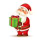 Santa Claus Carrying Gift Box - GraphicRiver Item for Sale