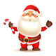Santa Claus holding Candy Cane - GraphicRiver Item for Sale