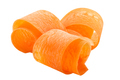 Carrot curled shavings or slices rolled up,  isolated - PhotoDune Item for Sale
