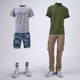 Cargo Shorts and Cargo Pants Mock-Up - GraphicRiver Item for Sale