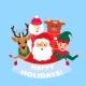 Santa Claus, Deer, Snowman, Elf, Bull. Happy - GraphicRiver Item for Sale