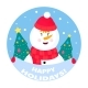 Funny Snowman Is Holding a Sign That Says Happy - GraphicRiver Item for Sale