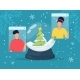 Online Christmas Celebration Snow Globe and People - GraphicRiver Item for Sale