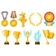 Awards and Trophy Icons Set - GraphicRiver Item for Sale