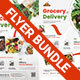 Grocery Delivery Flyer Bundle - GraphicRiver Item for Sale