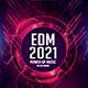 EDM 2021 Power Up Music Fest Photoshop Flyer Template - GraphicRiver Item for Sale
