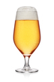 Misted glass of light beer isolated on white background. - PhotoDune Item for Sale