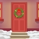 Christmas Wreath Door Holiday Decoration New Year - GraphicRiver Item for Sale