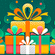 Merry Christmas And Happy New Year Greeting Card - GraphicRiver Item for Sale