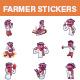 Farmer Sticker Set - GraphicRiver Item for Sale