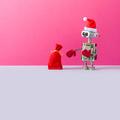 Postcard with Santa Claus robot - PhotoDune Item for Sale