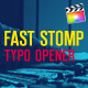 Fast Stomp // Typography Opener | For Final Cut & Apple Motion - VideoHive Item for Sale