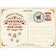 Vintage Christmas Typography Postcard - GraphicRiver Item for Sale