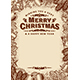 Vintage Merry Christmas Greeting Card With Copy Space Brown - GraphicRiver Item for Sale