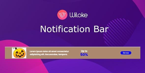 Wiloke Notification Bar