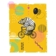 Bear with Balloons Rides Bicycle - GraphicRiver Item for Sale