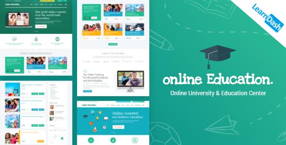 Education Center | LMS Online University & School Courses Studying WordPress Theme