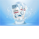 Body Care Products on a Blue Background with Water Splash - GraphicRiver Item for Sale