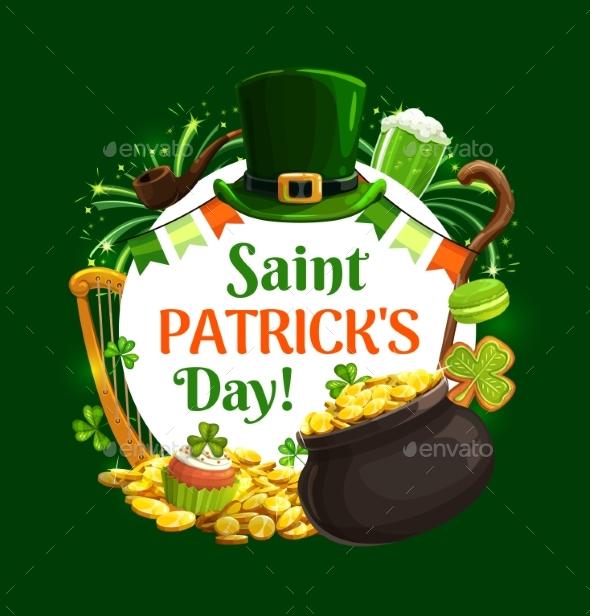 Irish Holiday St. Patricks Day Symbols, Lettering