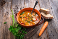 Stew made with meat, potatoes, carrots and herbs - PhotoDune Item for Sale