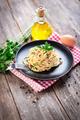 1Spaghetti alla carbonara. Pasta with pancetta, egg, parmesan cheese and cream sauce. - PhotoDune Item for Sale