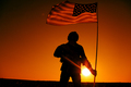 American soldiers with national flag silhouette - PhotoDune Item for Sale