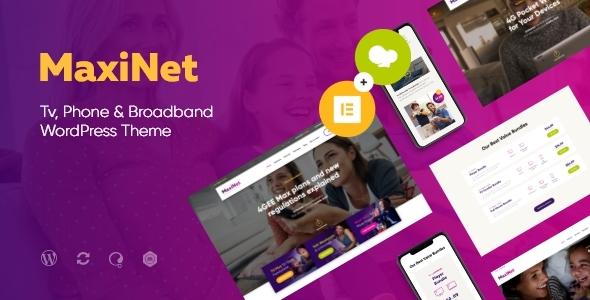 MaxiNet   Broadband & Telecom Internet Provider WordPress Theme + Elementor