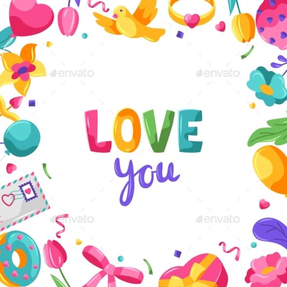 Happy Valentine Day Greeting Card.