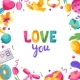 Happy Valentine Day Greeting Card. - GraphicRiver Item for Sale
