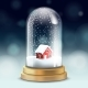 Realistic Crystal Ball or Tall Flask with Snow - GraphicRiver Item for Sale