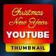 Youtube Thumbnail - Christmas & New year - GraphicRiver Item for Sale